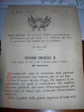 REGIO DECRETO 1877 ABOLITE PENSIONI DI PERFEZIONAMENTO ARTISTI -NON + CONCORSI