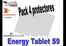 """**Pack 4 Protectores de pantalla para TABLET ENERGY SYSTEM S9 9"""" UNIVERSAL"""