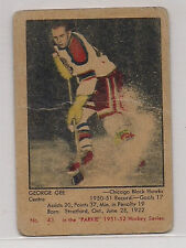 1951 PARKHURST # 43 GEORGE GEE HOCKEY CARD