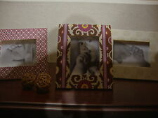 COCALO~JASMINA~NURSERY 3 PIECE PICTURE FRAME SET~NEW