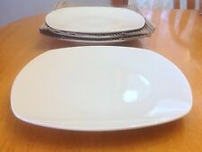 Square Porcelain Dinner Plates. Set Of 4. Tabletops Gallery. Nice. New.