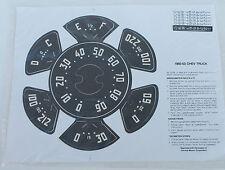 1950 1951 1952 1953 Chevrolet Truck Speedometer & Gauge Vinyl Decals