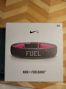 Nike + Fuel Band Small Black Steel Fitness Band Watch Step Tracker Plus