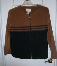 L@@K Alix Taylor Sz 22WP Brown & Black Moleskin Jacket  Well Made Great Style