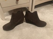White Stuff Brown Suede Boots Size 6