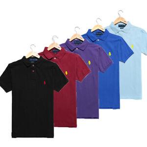 2021 Herren Poloshirt Mann RalphLauren T-Shirt Small Pony Custom Classic Fit NEU