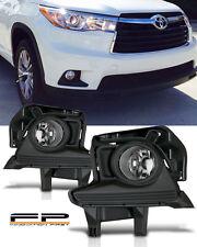2014 2015 2016 Toyota Highlander Clear Fog light Front Lamps Full Kit W/ Harness