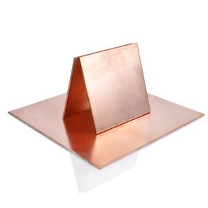 1pcs 99.9% Pure Copper Cu Metal Plate Copper Flat Stock Copper Sheet Select Size