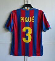 FC BARCELONA SPAIN PIQUE #3 2009/2010 HOME FOOTBALL SHIRT JERSEY CAMISETA SIZE M