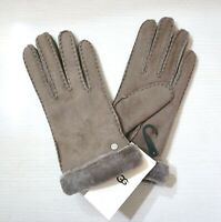 NWT $155 UGG Women's Shearling & Leather Gloves, Stormy Grey, 15108, Pick a Size