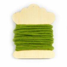 100 Green Felt String 50cm Roll Suitable for Classroom Use Thread Threading