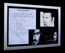 GEORGE MICHAEL Jesus To A Child QUALITY CD MUSIC FRAMED DISPLAY+FAST GLOBAL SHIP
