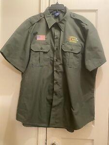 Propper Tactical Dress Shirt -Vietnam Veteran Short Sleeve, Green, Size XL