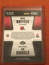 2018 Panini Contenders Round Numbers Baker Mayfield Sam DARNOLD