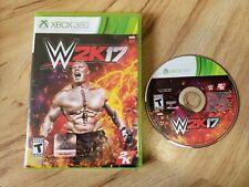 WWE 2K17 (Microsoft Xbox 360, 2016). With Case. WWF. Wrestling. Cena. Free Ship