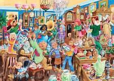 GIBSONS JIGSAW PUZZLE ANTIQUE SHOP ANTICS JOHN FRANCIS 1000 PCS #G6130 CARTOON