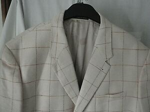 """NEW Paul Smith Collection Pink & Brown Check Wool & Silk Jacket Size 44"""""""