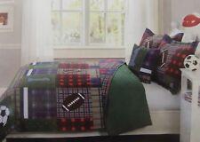 4 pc Kids Expressions Maxfield Full Quilt, Shams & Deco Pillow Set NIP
