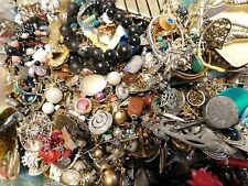 junk drawer lot costume fashion jewelry 10 lbs pound misc crafter necklace