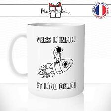 Mug Vers L'infini et L'au Dela Fusée Astronaute Tasse Personnalisée Idée Cadeau