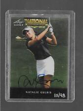 2011 Leaf Metal Golf - NATALIE GULBIS - Chicago National Promo Autograph #d13/98