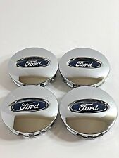 Ford Chrome Wheel Center Caps BB53-1A096-RA 6L24-1A096-AA 3F23-1A096-DC OEM (x4)