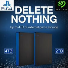 Seagate 2TB/4TB External Game Drive HDD Storage Expansion Sony PS4 Playstation 4
