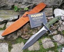 RAMBO Messer LAST BLOOD HEARTSTOPPER Bowie Movie Knife Büffellederscheide