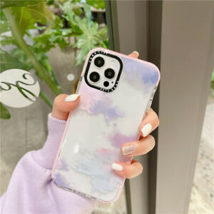 For IPhone 13 12 11 Pro Max XS X 7 8+ Colorful Clouds shockproof soft Case Cover
