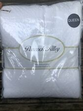 PEACOCK ALLEY Queen Coverlet Shams Set Stonewash BLANKET Matelasse Cotton White