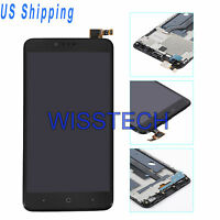 Black LCD Screen + Touch Screen Digitizer Assembly W/Frame For ZTE Zmax Pro Z981