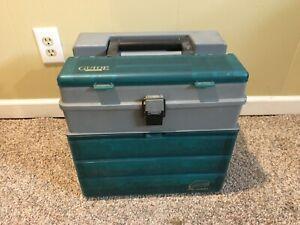 Vintage Large Plano Guide Tackle Box Model1233/1234 SEE DETAILS!!!!!!