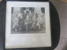 COLONIAL EAST AFRICA ;ELECTED NAMED POLITICIANS FRAMED PHOTOGRAPH KENYA 1952
