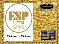 ESP Custom Guitar Headstock Decal Restoration Waterslide Logo 98g