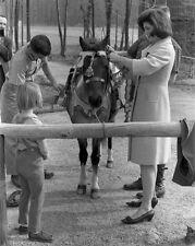 First Lady Jacqueline Kennedy and Caroline with pony Macaroni New 8x10 Photo