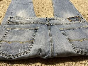 AE AMERICAN EAGLE OUTFITTERS RELAXED STRAIGHT CORE FLEX MEN'S JEANS SIZE 36X32