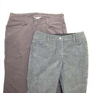 Exofficio Lot Of 2 Women's Pants Sz 8 Gray Corduroy Brown Quick Dry