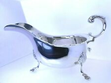 More details for antique art deco 1919 silver sauce boat gravy jug three hoof feet quirky 174.3g