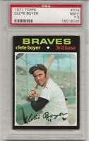 SET BREAK -1971 TOPPS # 374 CLETE BOYER, PSA 7.5  NM+, ATLANTA BRAVES, L@@K