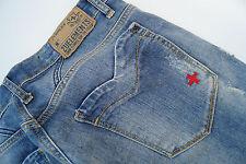 ZU + ELEMENTS Damen wmn stretch Hüft Jeans Hose Gr.26 W26 stone wash used l. #15
