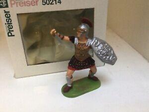 Preiser Elastolin Roman legionary. Boxed set 50214. Plastic toy soldier. 70mm