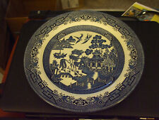 "Churchill England Blue Willow Pattern 10 1/4"" Dinner Plate"