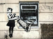 Banksy Robot Arm Girl Graffiti Street Art Large Poster Art Print Lf3670