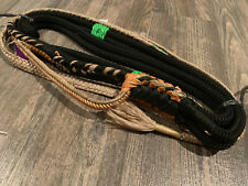 Bull rope Black Custom Jr Pro 9/7 Lh Ept Bull Rope -Bull riding rodeo bull rider
