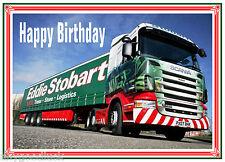 EDDIE STOBART TRUCK LORRY PHOTO GLOSSY BIRTHDAY CARD FREE POST 1ST CLASS
