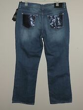 NWT-WOMENS-PLUS-SEVEN7-SZ-18-BOOT-JEANS-M-STRETCH-DENIM-DISTRESSED-BLING-EMBLSHD