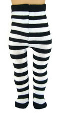 """Black White Striped Tights made for 18"""" American Girl Doll Clothes"""