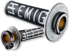 Emig V2 Half Waffle Lock on Grips Black White Honda CRF250R CRF250X CRF450R 150R