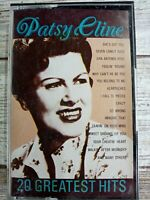 PATSY CLINE - 20 GREATEST HITS - Vintage  Cassette Music Tape