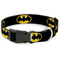 Buckle-Down Batman Shield Yellow Pet Collar - Small
